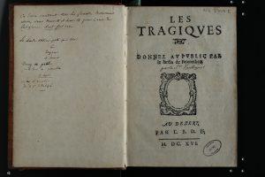 Première édition clandestine des Tragiques d'Agrippa d'Aubigné, 1616